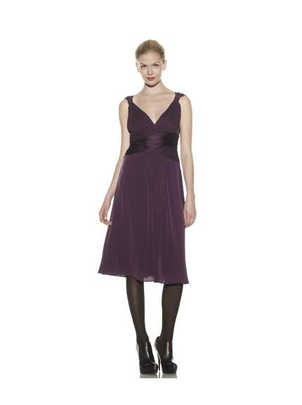 Catherine Malandrino Women's Cocktail Dress with Crisscross Ruch