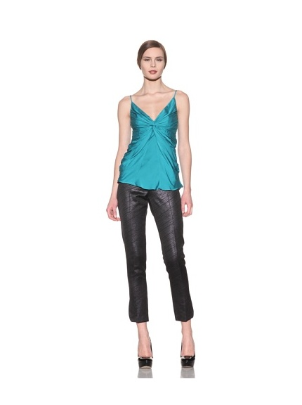 Catherine Malandrino Women's Knot Front Cami (Teal)