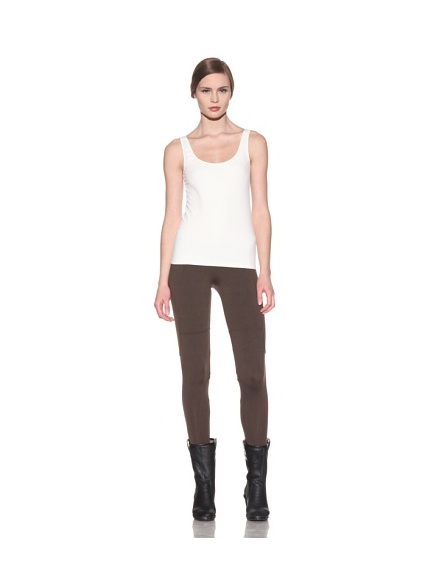 David Lerner Women's Curve Panel Leggings (Brown)
