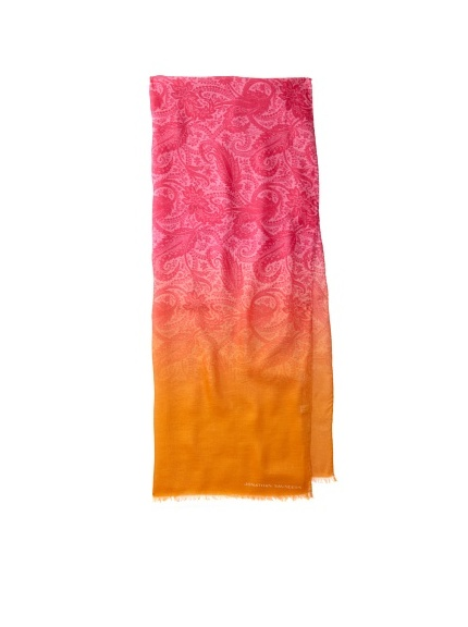 Jonathan Saunders Women's Paisley Scarf (Magenta/Apricot)