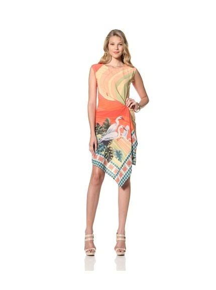 Eva Franco Women's Eden Sleeveless Printed Dress (St. Tropez)