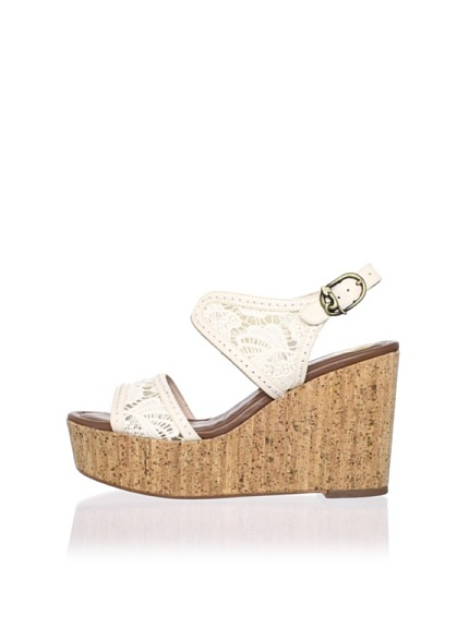 House of Harlow 1960 Women's Gladys Wedge Sandal (White)