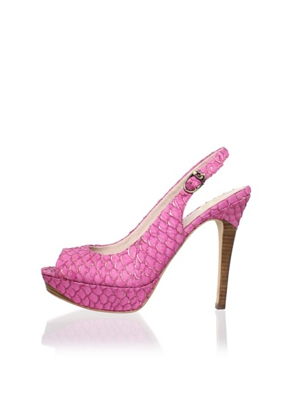 House of Harlow 1960 Women's Nadya Open-Toe Slingback (Fuchsia)