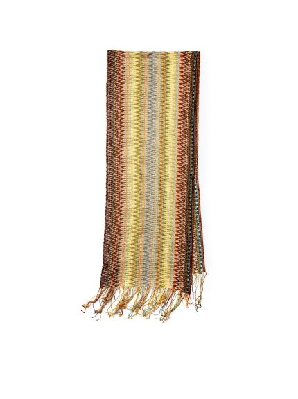Missoni Women's Multi Zigzag Scarf, Yellow/Brown