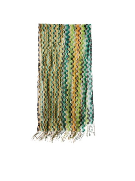 Missoni Women's Abstract Multi Scarf, Green/Rust