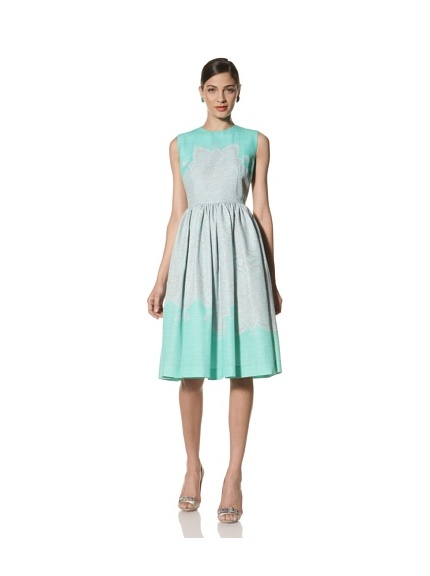 Jonathan Saunders Women's Caro Sleeveless Dress (Star Jade)