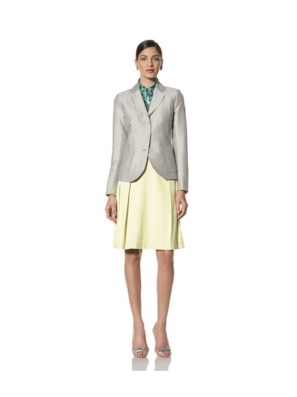 Jonathan Saunders Women's Windsor Polka Dot Fitted Jacket (Steel/Sherbet)