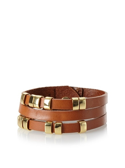 Linea Pelle Sliced Cuff with Sliders, Natural