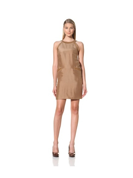MARTIN GRANT Women's Dress with Leather Straps (Mocha)