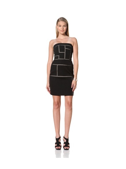 MARTIN GRANT Women's Bustier Ladder Dress (Black)