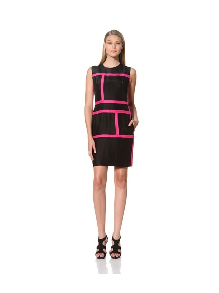 MARTIN GRANT Women's Rectangle Dress (Black/Fuchsia)