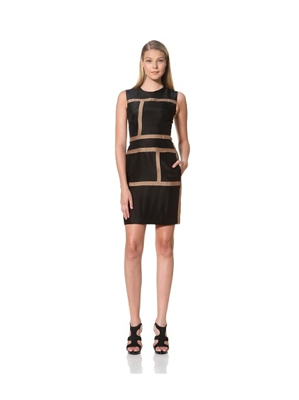 MARTIN GRANT Women's Rectangle Dress (Black/Mocha)