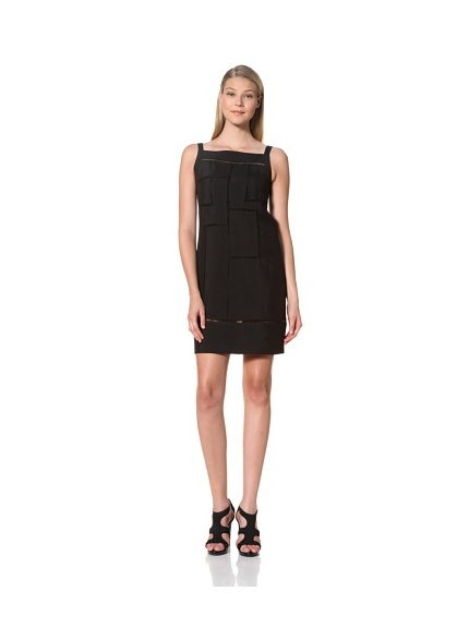 MARTIN GRANT Women's Day Ladder Dress with Boat Neck (Black)