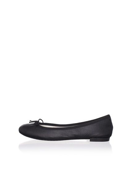 REPETTO Women's BB Calfskin Ballet Flat (Black)