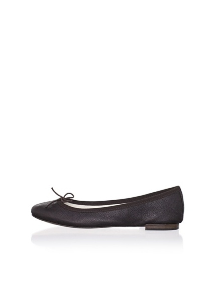 REPETTO Women's BB Leather Ballet Flat (Espresso)