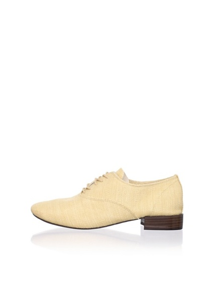 REPETTO Women's Zizi Raffia Lace-Up (Cream)
