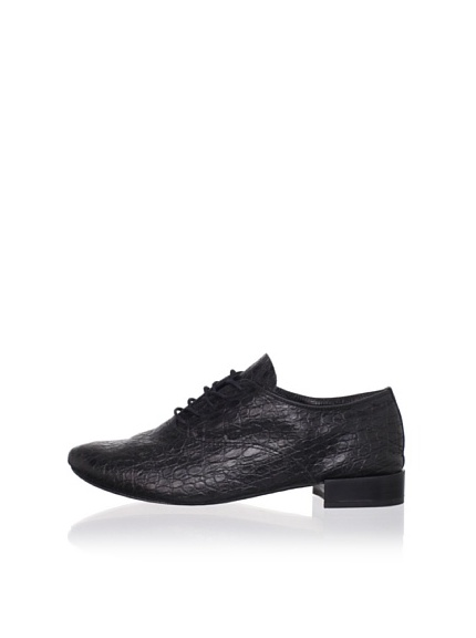 REPETTO Women's Zizi Croc Print Oxford (Black)