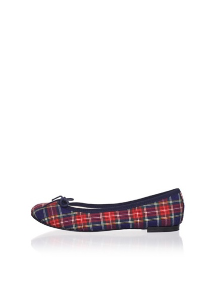 REPETTO Women's BB Tartan Ballet Flat (Navy)