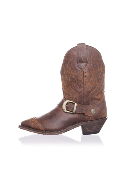 Dingo Women's Strap Cowboy Short Boot (Golden Tan)