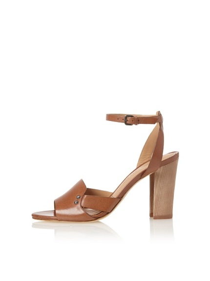 Sigerson Morrison Women's Bunch Ankle-Strap Sandal (Brown)