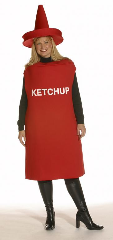 Ketchup Bottle Plus Size Adult Costume