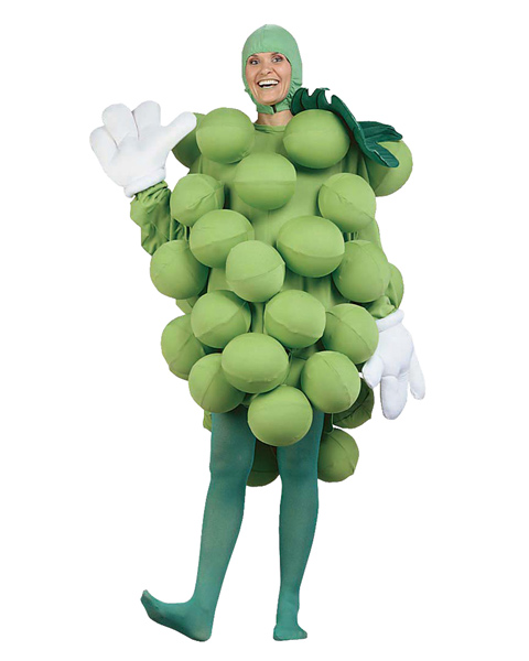 Grapes Green Adult and Child Costume