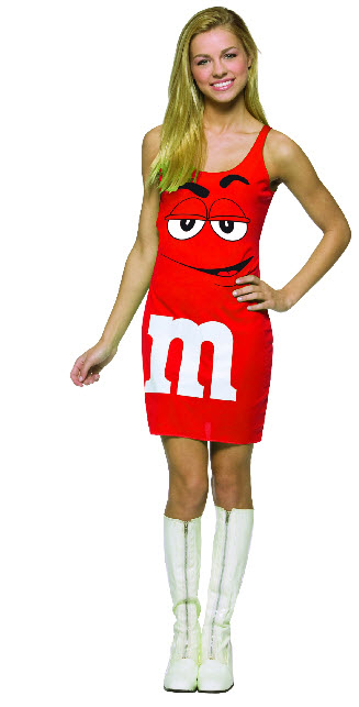 Red M&M Tank Dress Costume