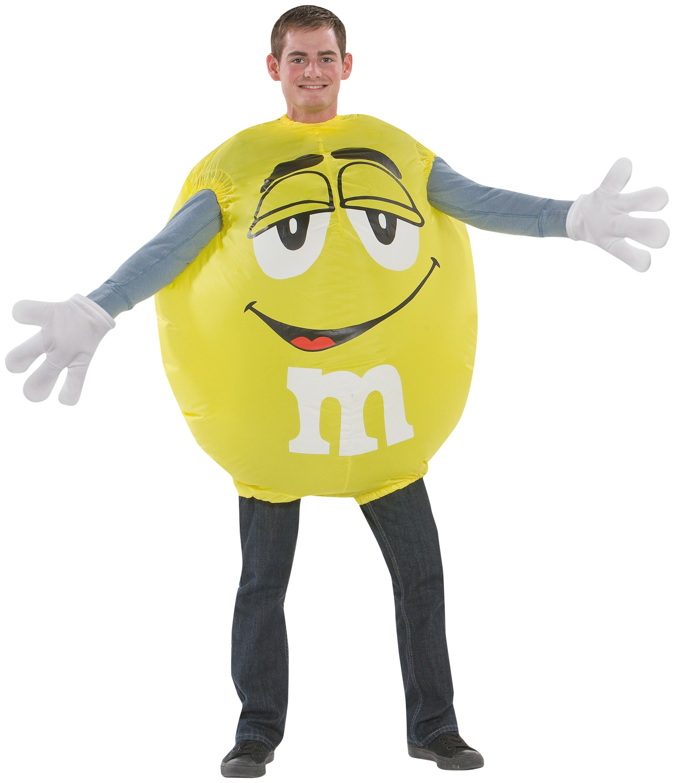 Yellow M&M Inflatable Adult Costume