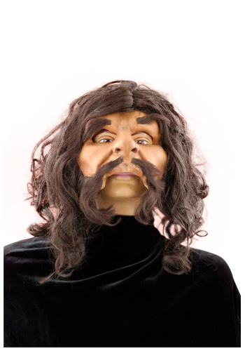 Caveman Mask with Wig