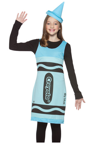 Tween Sky Blue Crayon Dress