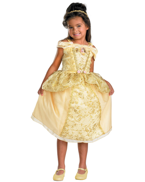 Girls Disney Deluxe Belle Costume