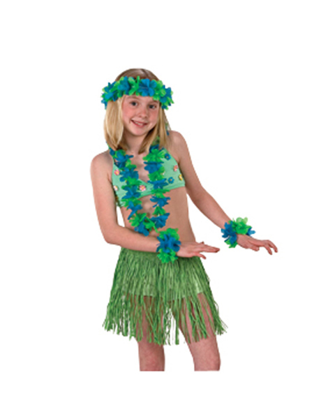 Green Mini Skirt Set Costume for Child