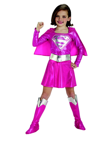 Pink Supergirl Costume for Girl