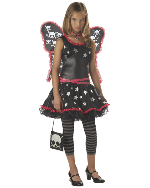Tween Skulls and Stars Gothic Fairy Costume