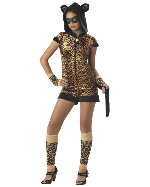 Tween Cats Meow Leopard Costume