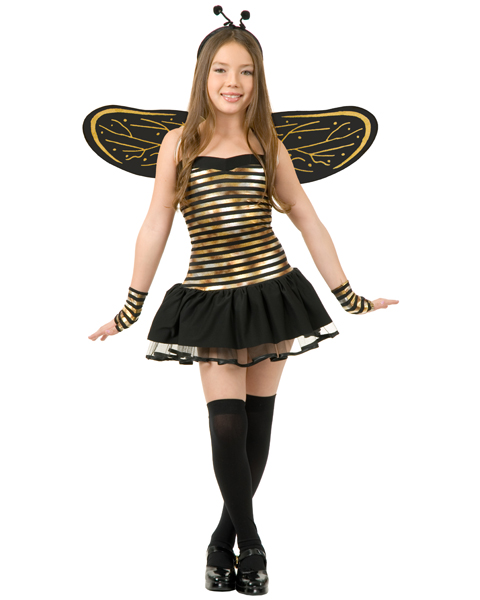 Girls Super Bee Hornet Costume