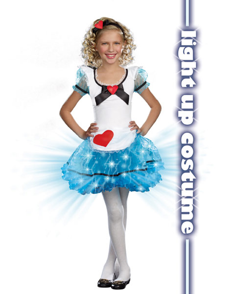 Girls Wonderland's De-Light Child Costume