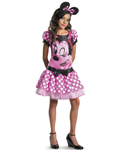 Deluxe Disney Pink Minnie Mouse Girls Costume