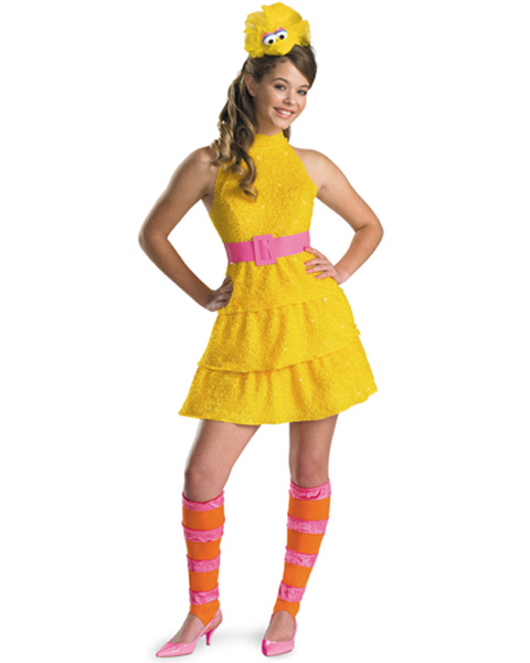 Sesame Street Big Bird Girls Costume