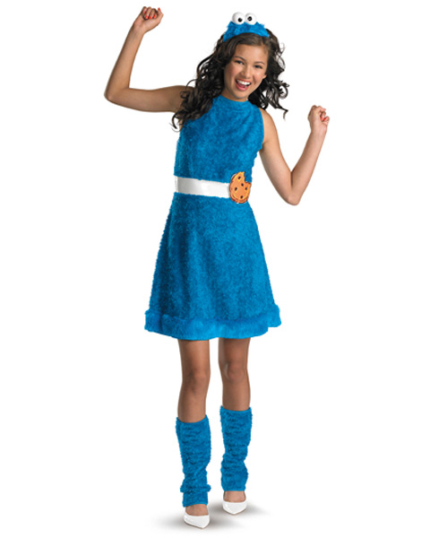 Sesame Street Cookie Monster Girls Costume
