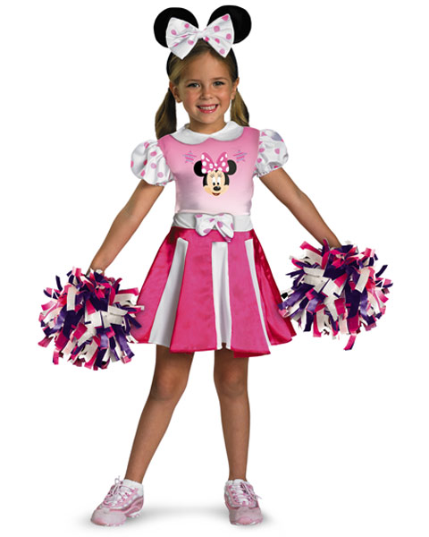 Disneys Minnie Mouse Cheerleader Girls Costume
