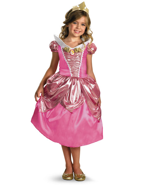 Deluxe Shimmer Disney Sleeping Beauty Aurora Girls Costume