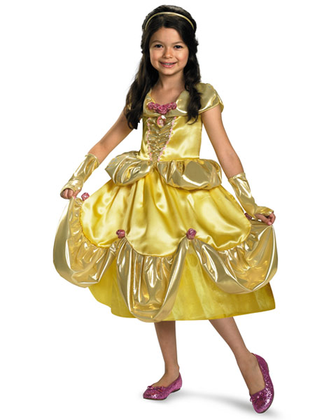 Deluxe Shimmer Disney Belle Girls Costume
