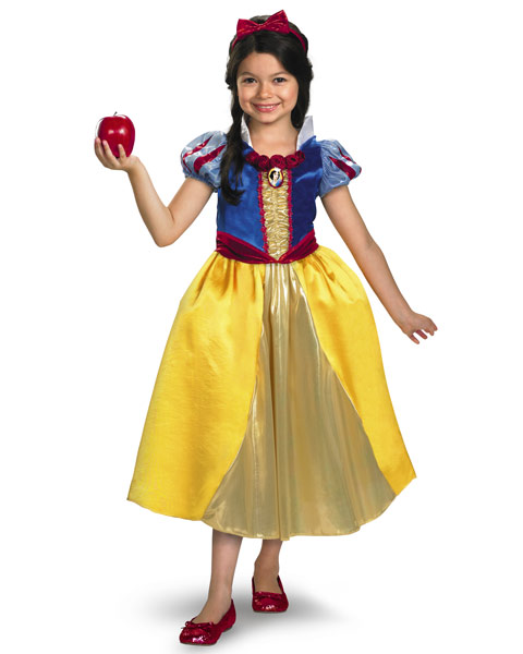 Deluxe Shimmer Disney Snow White Girls Costume