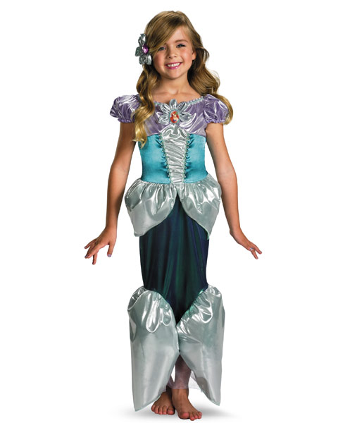 Deluxe Shimmer Disney Ariel Girls Costume