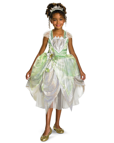 Deluxe Shimmer Disney Princess Tiana Girls Costume