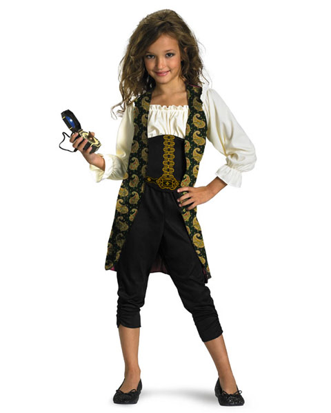 Classic Pirates of the Caribbean Angelica Girls Costume