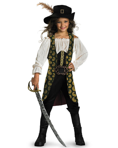 Deluxe Pirates of the Caribbean Angelica Girls Costume
