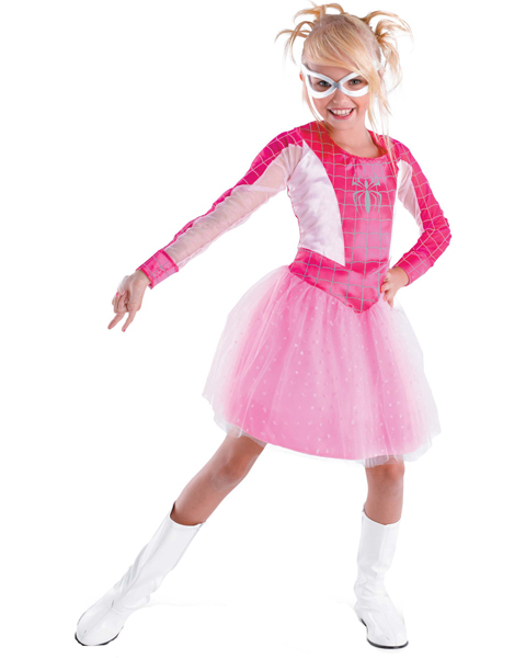 Girls Pink Suited Spider-Girl Costume