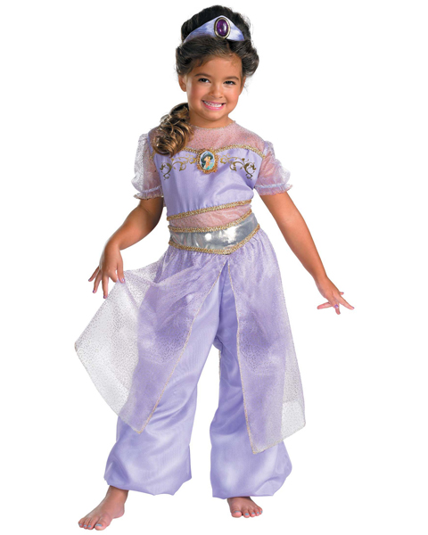 Girls Deluxe Disney Jasmine Costume